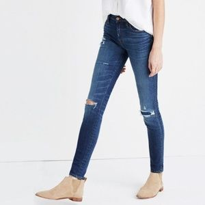 "Madewell 9"" Skinny Jeans: Ripped and Patched"